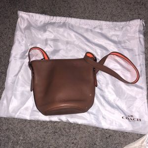 Coach Brown Leather Bucket Bag